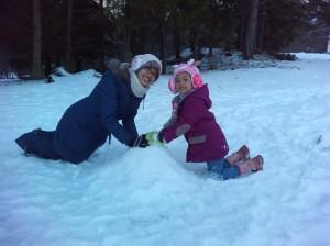 Building Mini Snowman