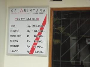 Tiket Sela Bintana